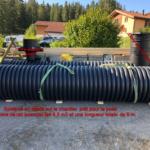 Système en dépôt sur le chantier